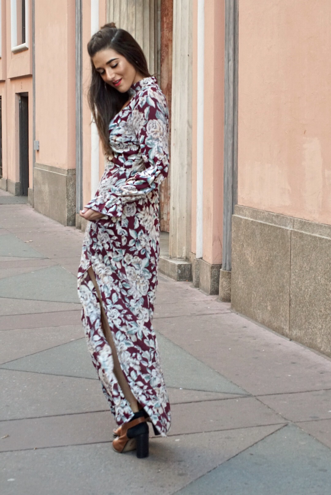 Trescool Floral Dress How To Stay Productive When Working From Home Esther Santer Fashion Blog NYC Street Style Blogger Outfit OOTD Trendy Pretty Spring Beautiful Shoes M4D3 Topknot Braid Wearing Online Shopping Inspo Women Girl Inspiration Photoshoot.JPG