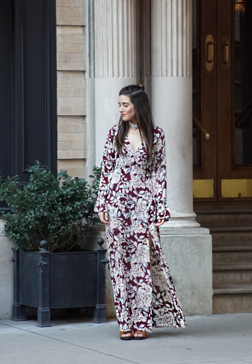Trescool Floral Dress How To Stay Productive When Working From Home Esther Santer Fashion Blog NYC Street Style Blogger Outfit OOTD Trendy Pretty Spring Beautiful Shoes M4D3 Topknot Braid Wearing Online Shopping Inspo Inspiration Women Girl Photoshoot.JPG