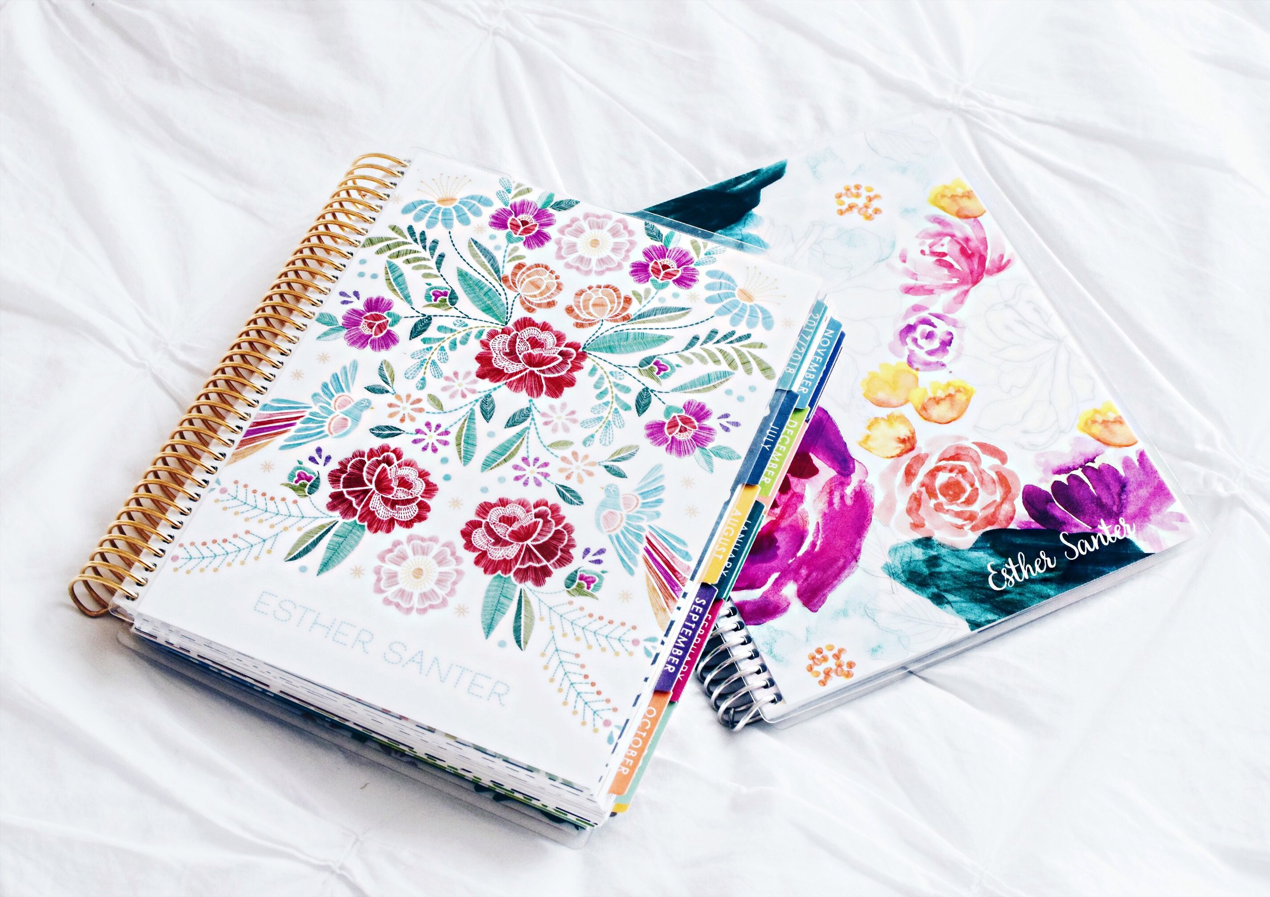 Planner Heaven At The Erin Condren Launch Party Esther Santer Fashion Blog NYC Street Style Blogger Trendy Girl Women Flatlay Paper Stationary Cardstock Pens Markers Colorful Fun Bold Pretty Notebook Floral Design Silver Gold Customizable Personalize.JPG