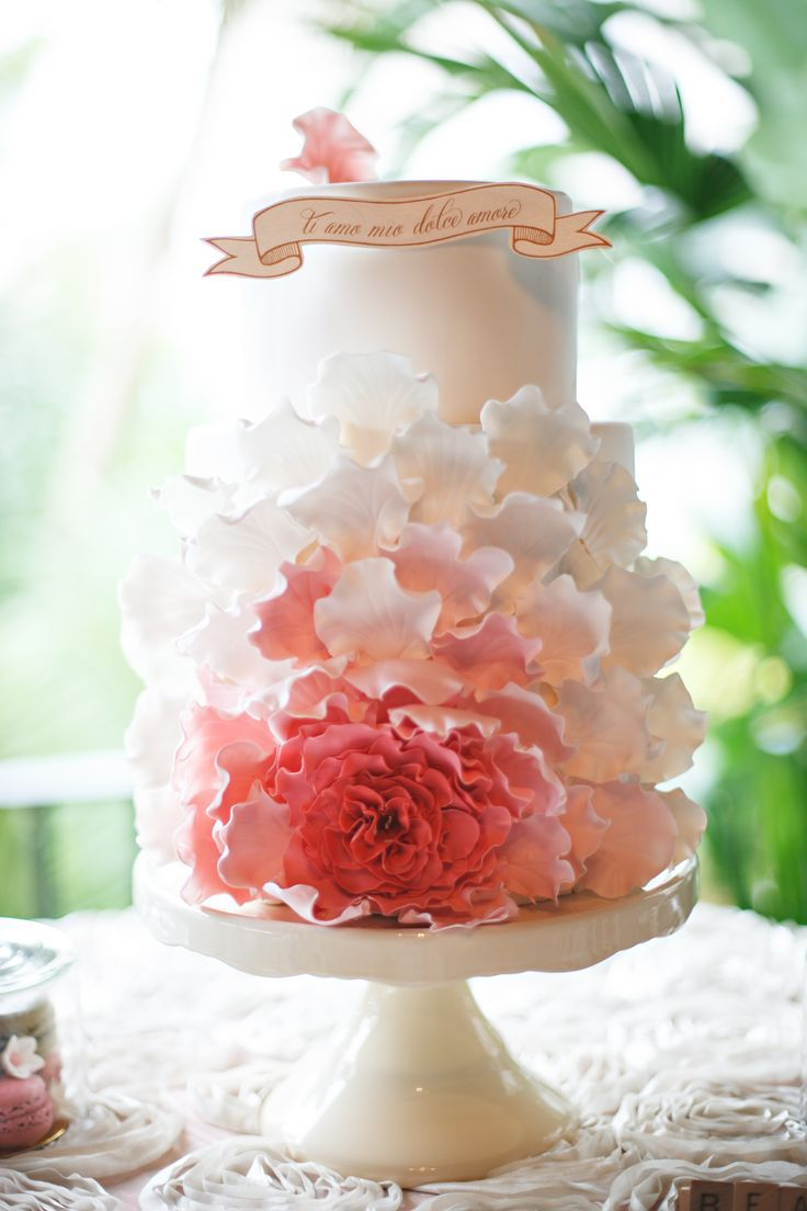 15 Wedding Cake Ideas Wedding Wednesday Esther Santer Fashion Blog NYC Street Style Blogger WeddingWire Delicious Vanilla Colorful White Pink Flowers Gold Red Elegant Design Rose Fondant Frosting Trendy Bride Fancy Rustic Layers Save Inspiration Inspo.jpg