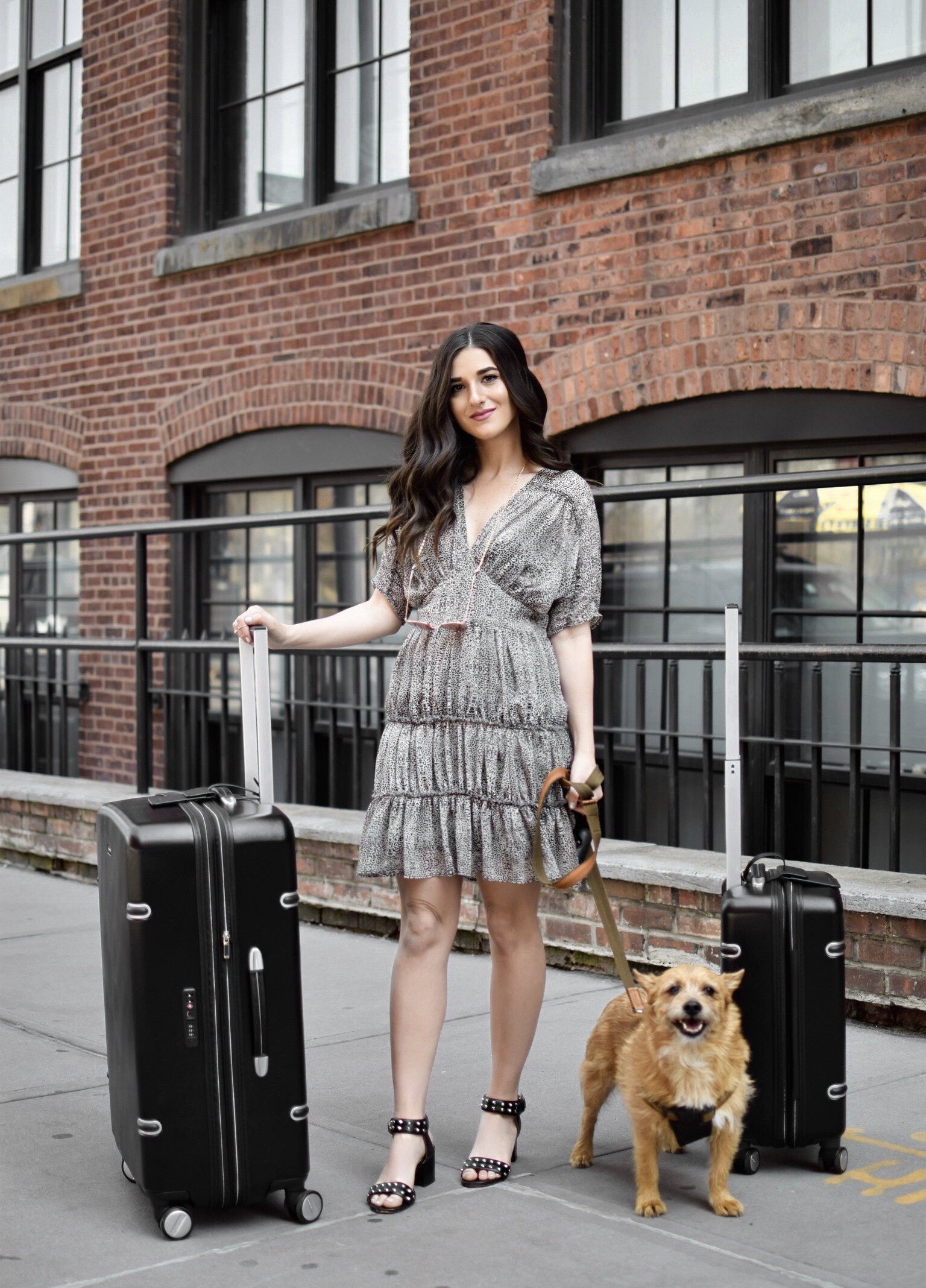 The Perfect Honeymoon Luggage Ricardo Beverly Hills Arris Collection Esther Santer Fashion Blog NYC Street Style Blogger Outfit OOTD Trendy Suitcase Compartment Interior Black Sandals Studs ASOS Convenient  Vacation New York City Skyline Dumbo Europe.jpg