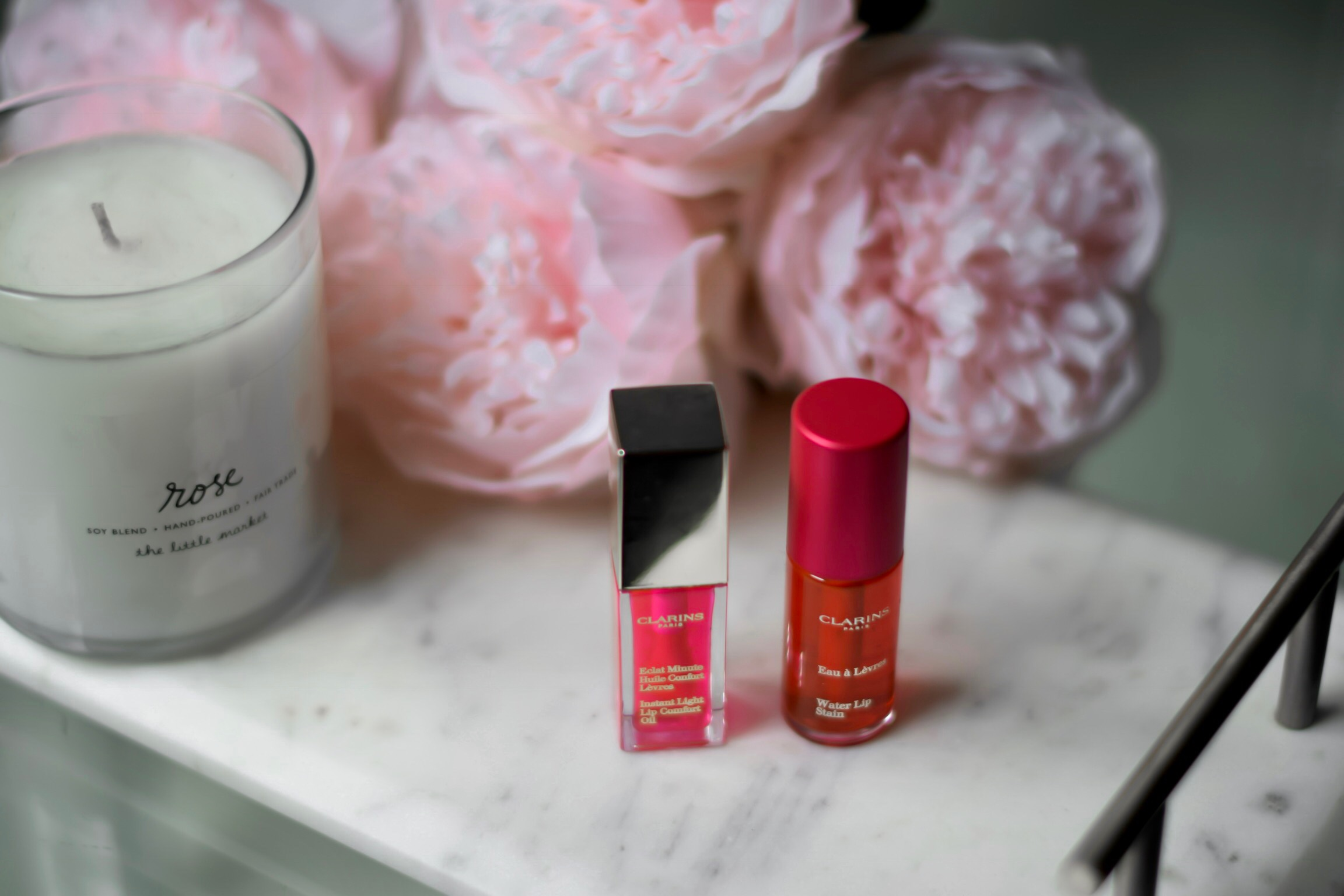 #TeamSassy vs #TeamSweet Clarins Esther Santer Fashion Blog NYC Street Style Blogger Outfit OOTD Trendy Beauty Makeup Routine Lipstick Lip Gloss Flatlay Instant Light Lip Comfort Oil Water Lip Stain Bright Pink Long Lasting Color Pretty Shop Girl.jpg