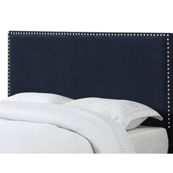 Lambert Upholstered Panel Headboard Charlton Home Wayfair Esther Santer NYC Street Style Blogger Home Decor Interior Design Inspiration Bed Headboard Grey Upholstered Beautiful Affordable Shopping Navy Blue Pretty Studs Neutral Sale Dream Inspo Trendy.jpg