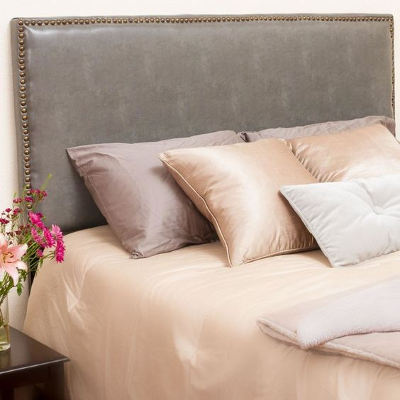 Lawrence Upholstered Panel Headboard Alcott Hill Wayfair Esther Santer NYC Street Style Blogger Home Decor Interior Design Inspiration Bed Headboard Grey Upholstered Beautiful Affordable Shopping Bedroom Pretty Studs Neutral Sale Dream Inspo Trendy.jpg
