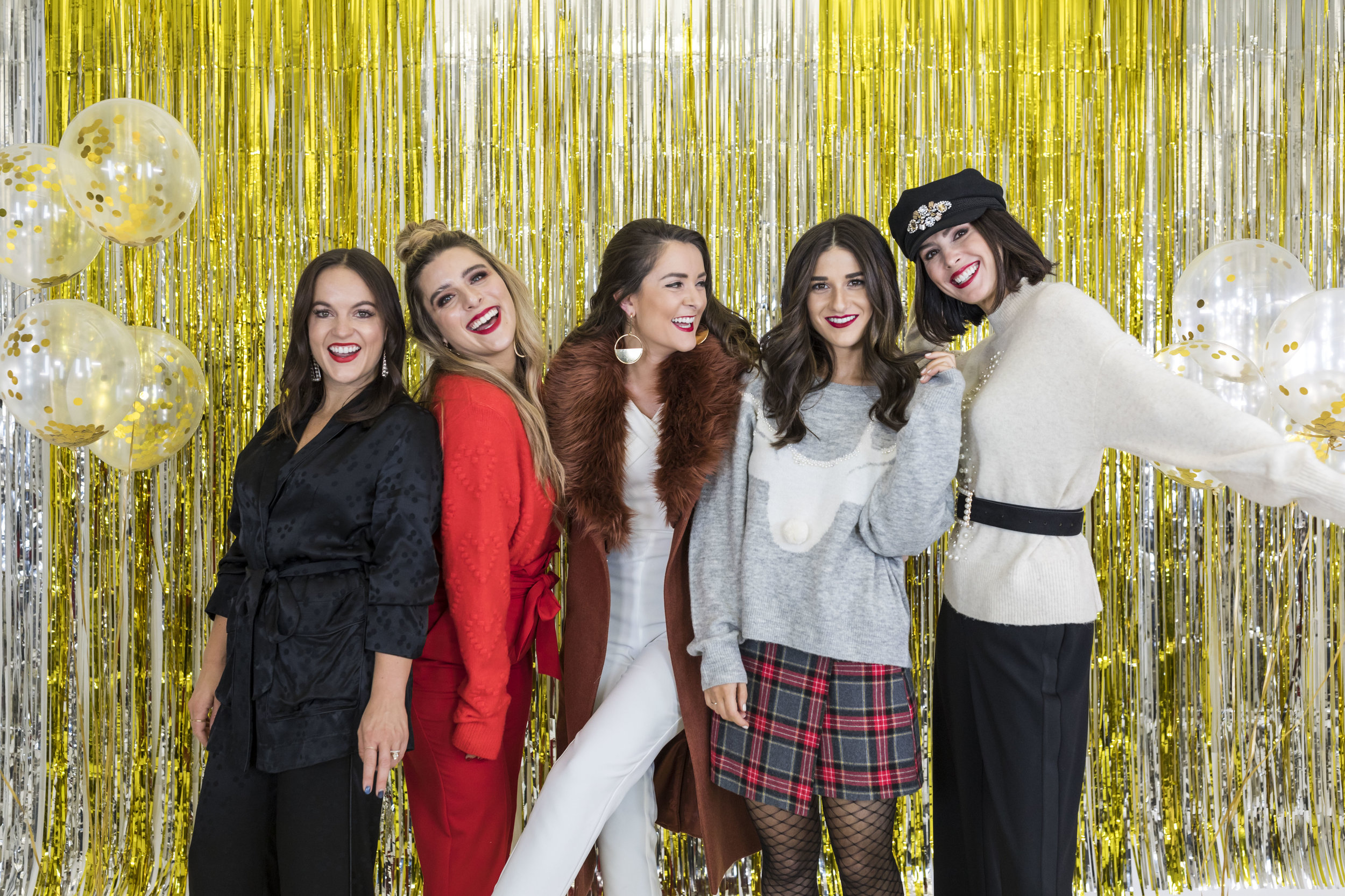 H&M Holiday Video Collab Esther Santer Fashion Blog NYC Street Style Blogger Outfit OOTD Trendy Confetti Streamers Balloons Presents Gift Wrap Shopping Wear Stylist Photoshoot Studio Videographer DryBar Hairstyle Friends Girls Lace Accessories Jewelry.jpg