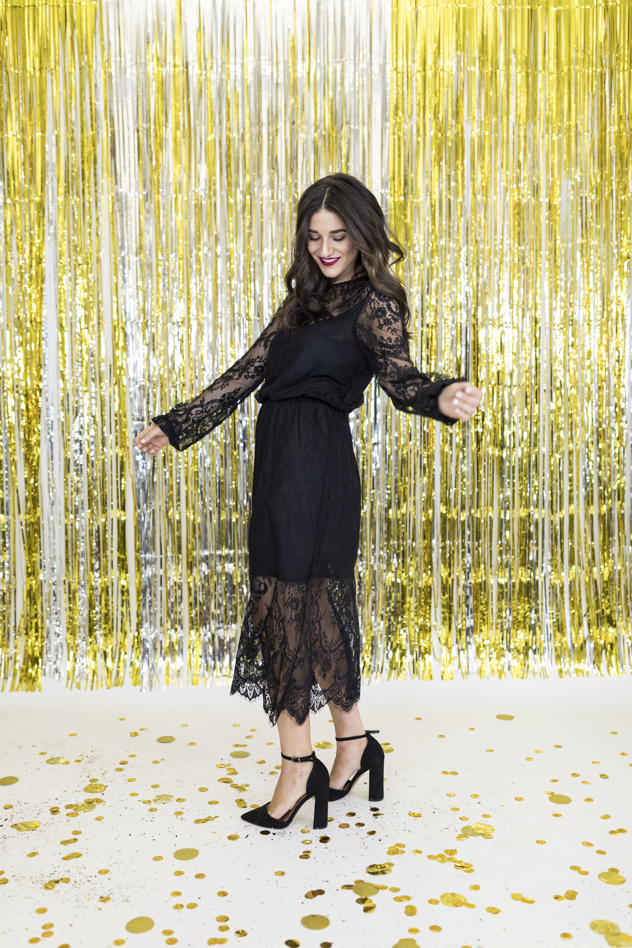 H&M Holiday Video Collab Esther Santer Fashion Blog NYC Street Style Blogger Outfit OOTD Trendy Confetti Streamers Balloons Presents Gift Wrap Shopping Wear Stylist Photoshoot Studio Videographer Hairstyle DryBar Friends Girls Lace Accessories Jewelry.jpg