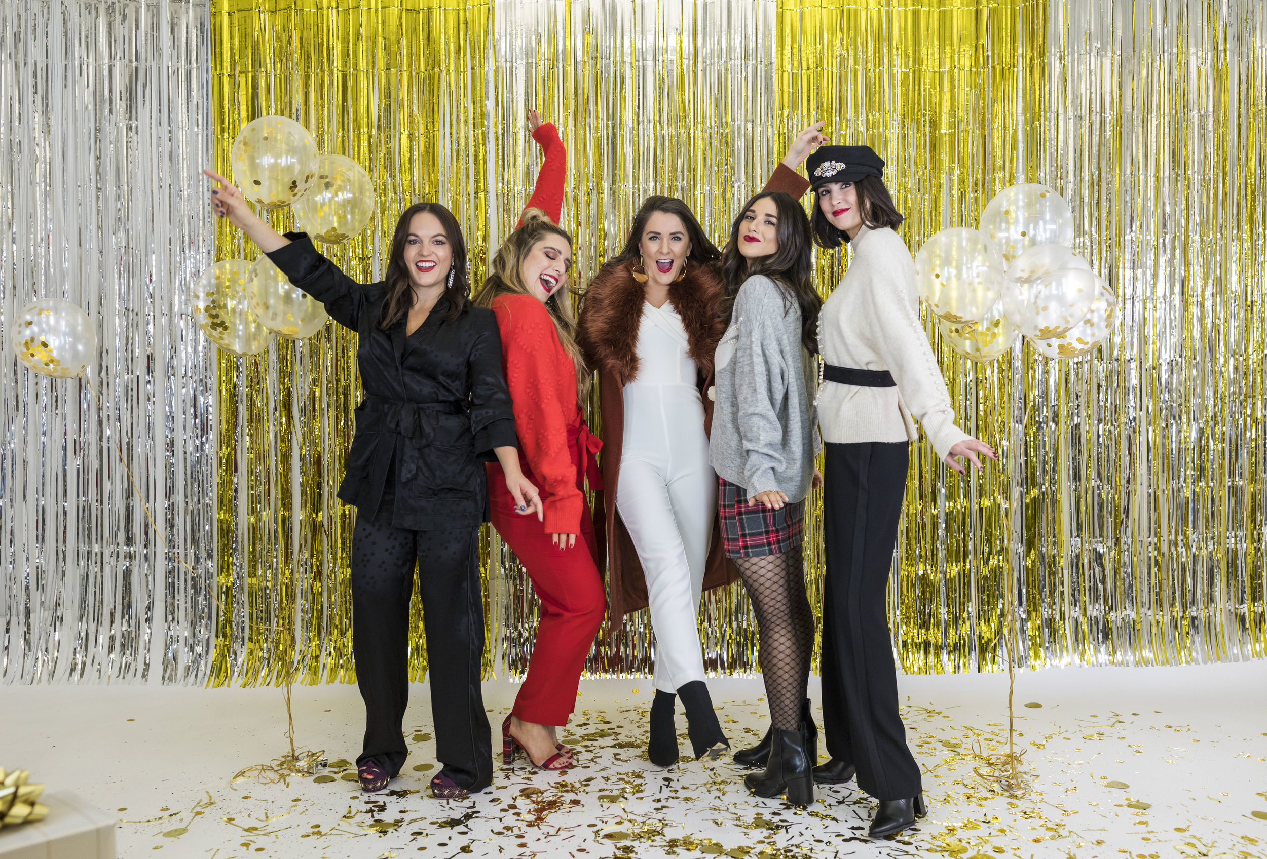 H&M Holiday Video Collab Esther Santer Fashion Blog NYC Street Style Blogger Outfit OOTD Trendy Confetti Streamers Balloons Presents Gift Wrap Shopping Wear Stylist Photoshoot Studio Videographer Hairstyle DryBar Sponsored Hat Belt Accessories Jewelry.jpg