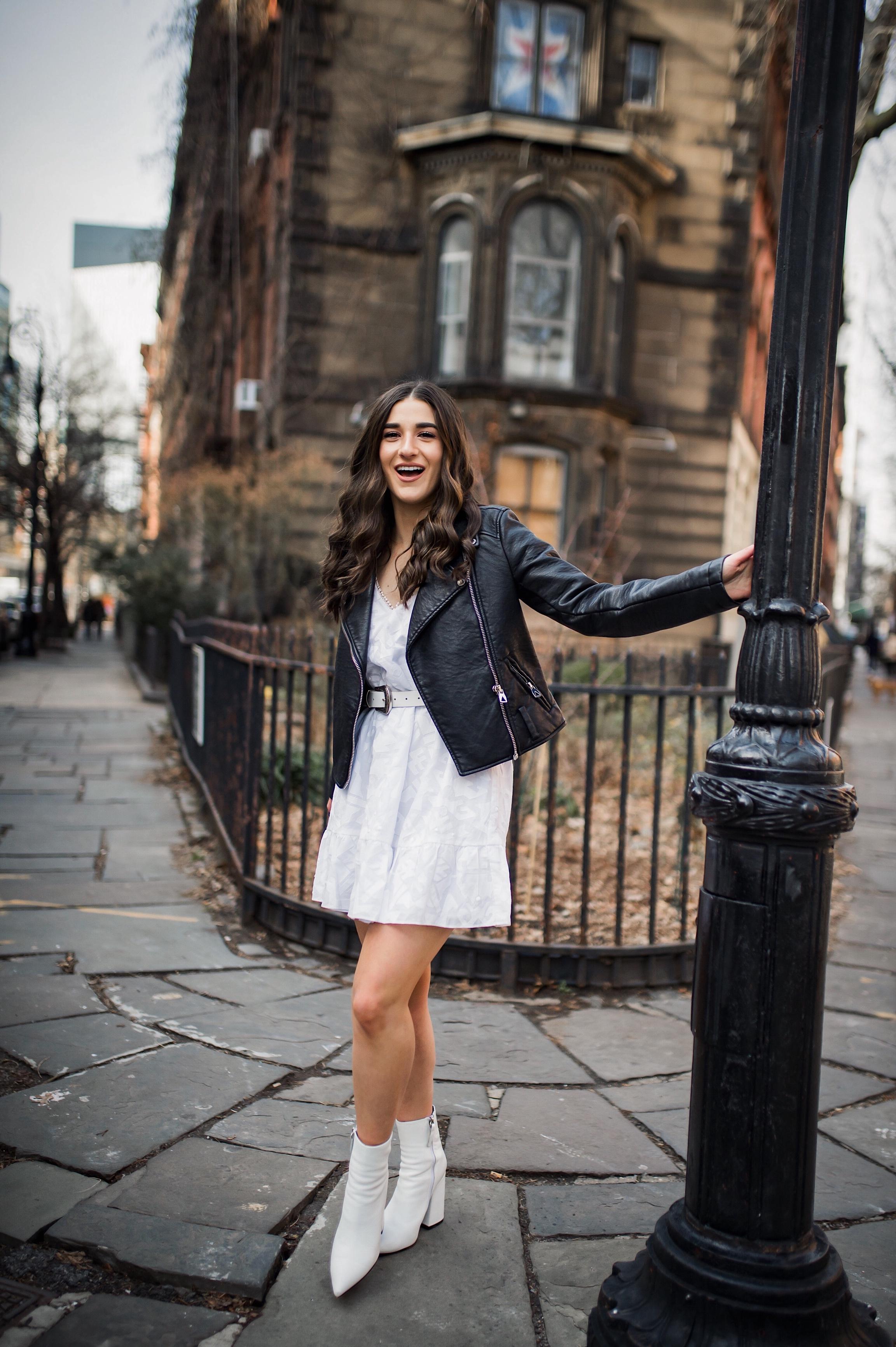 28f2037314a White Leather Dress