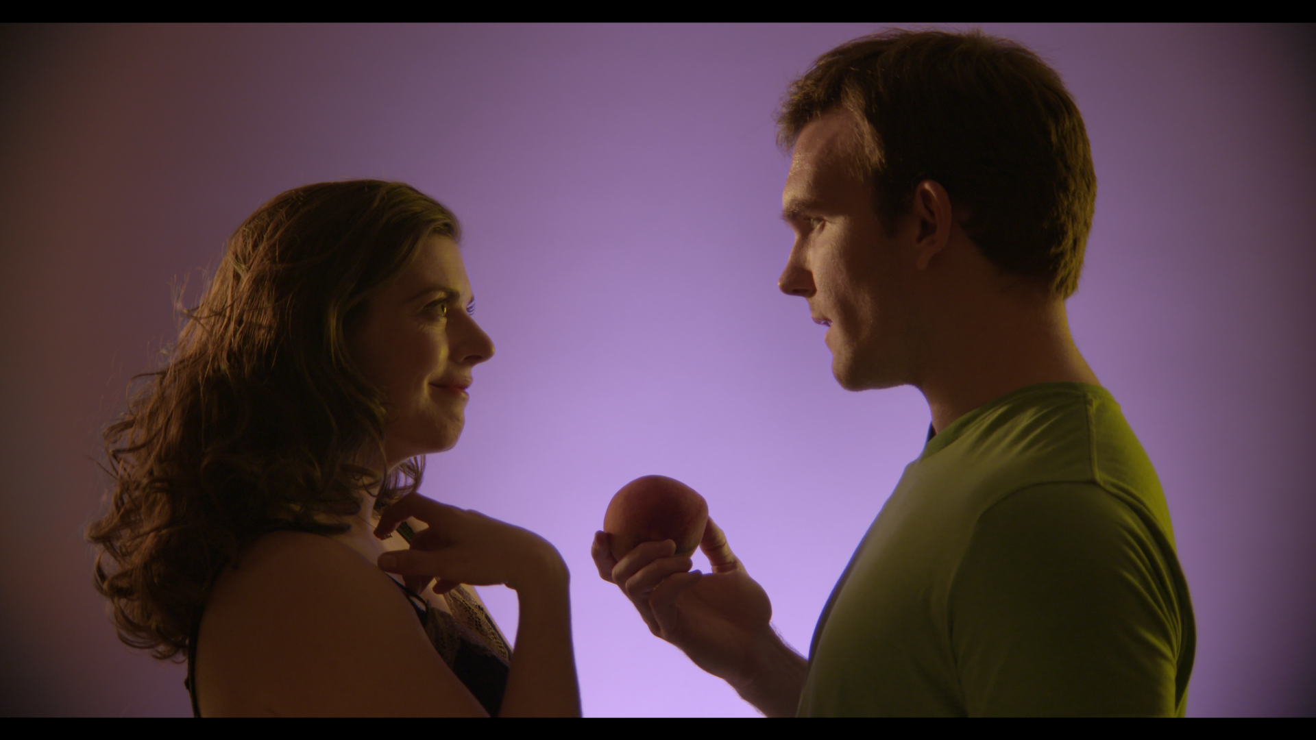 Claire (Amelia Mathews) and Franklin (Roger Wayne) in a psychic vision scene. A png version can be accessed at this link  and a jpeg  here .
