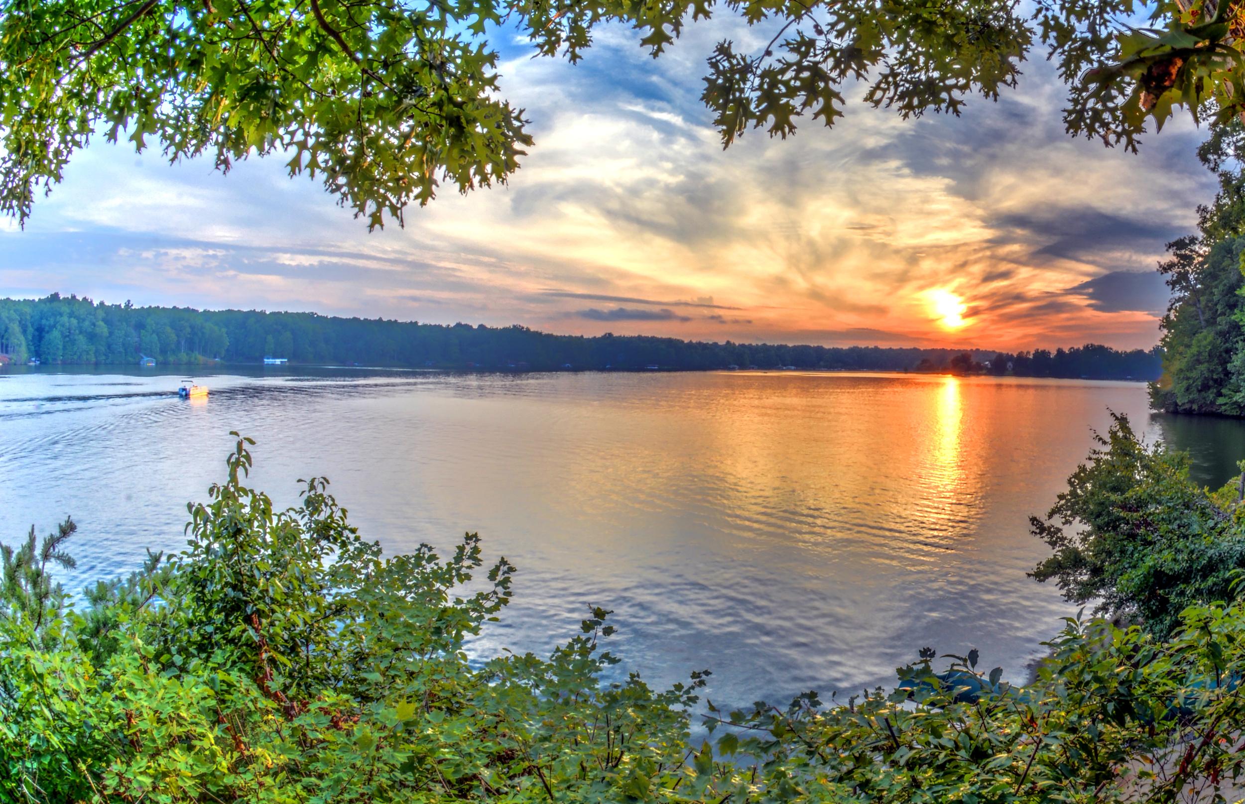 Enjoying the beautiful sunset at Lake Anna
