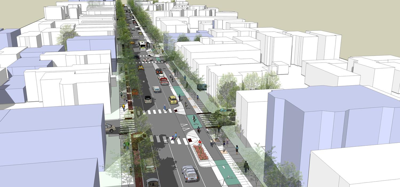 Western Avenue Complete Streets Bird's Eye View