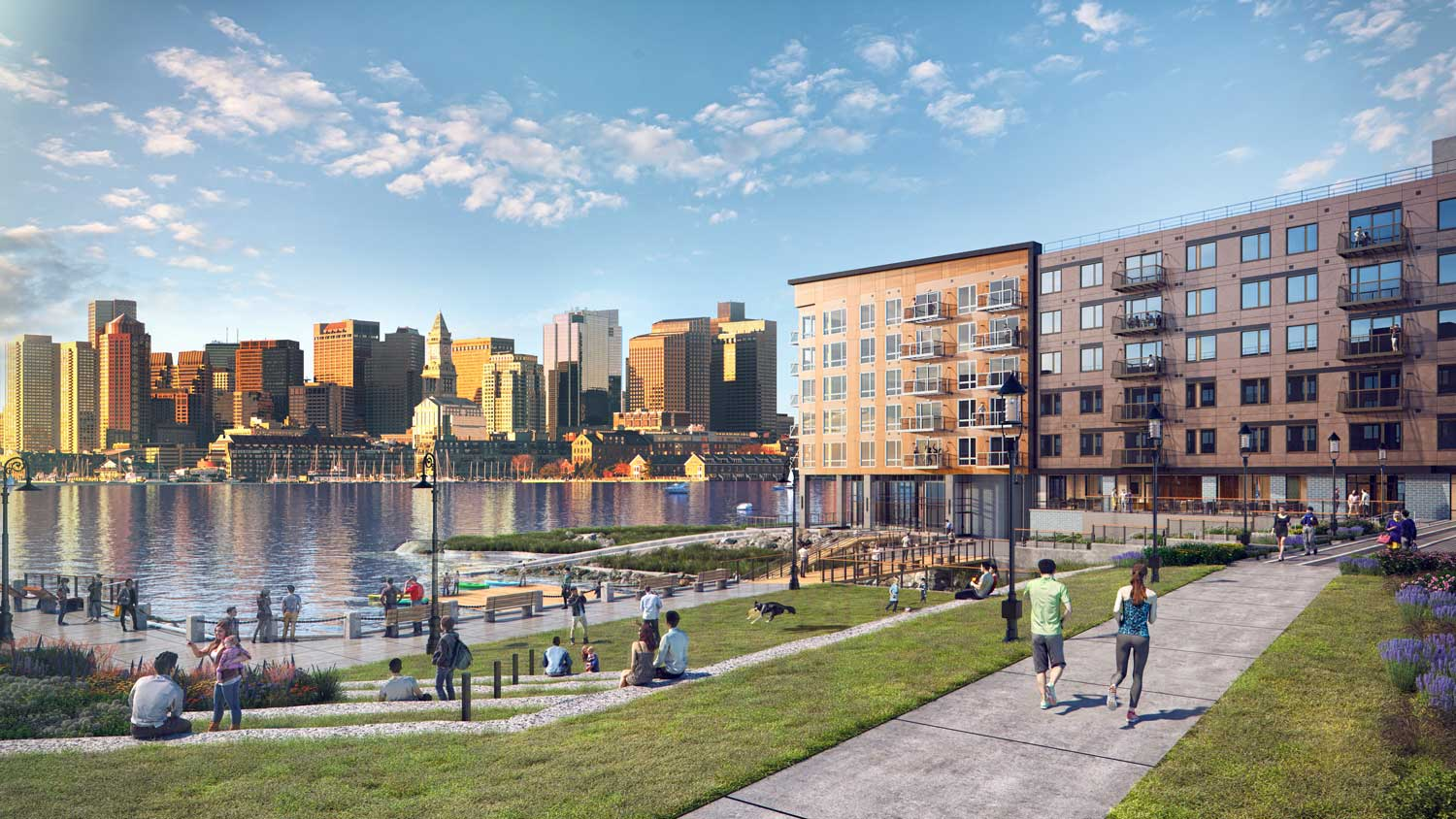Clippership Wharf (Rendering by The Architectural Team)