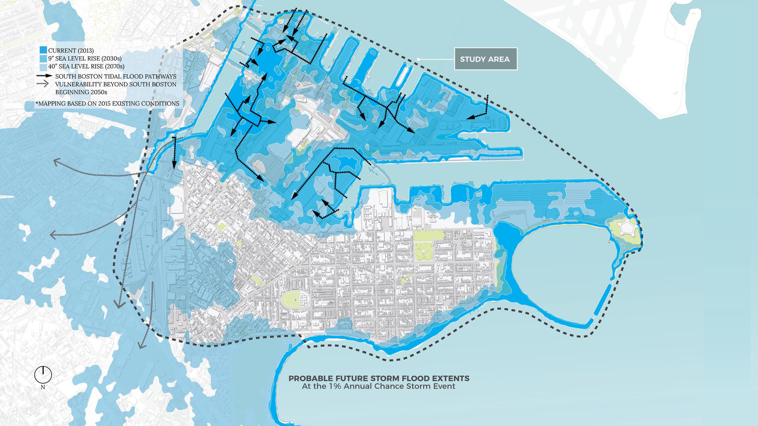 Climate Ready South Boston Probable Flood Extents (Halvorson Design)