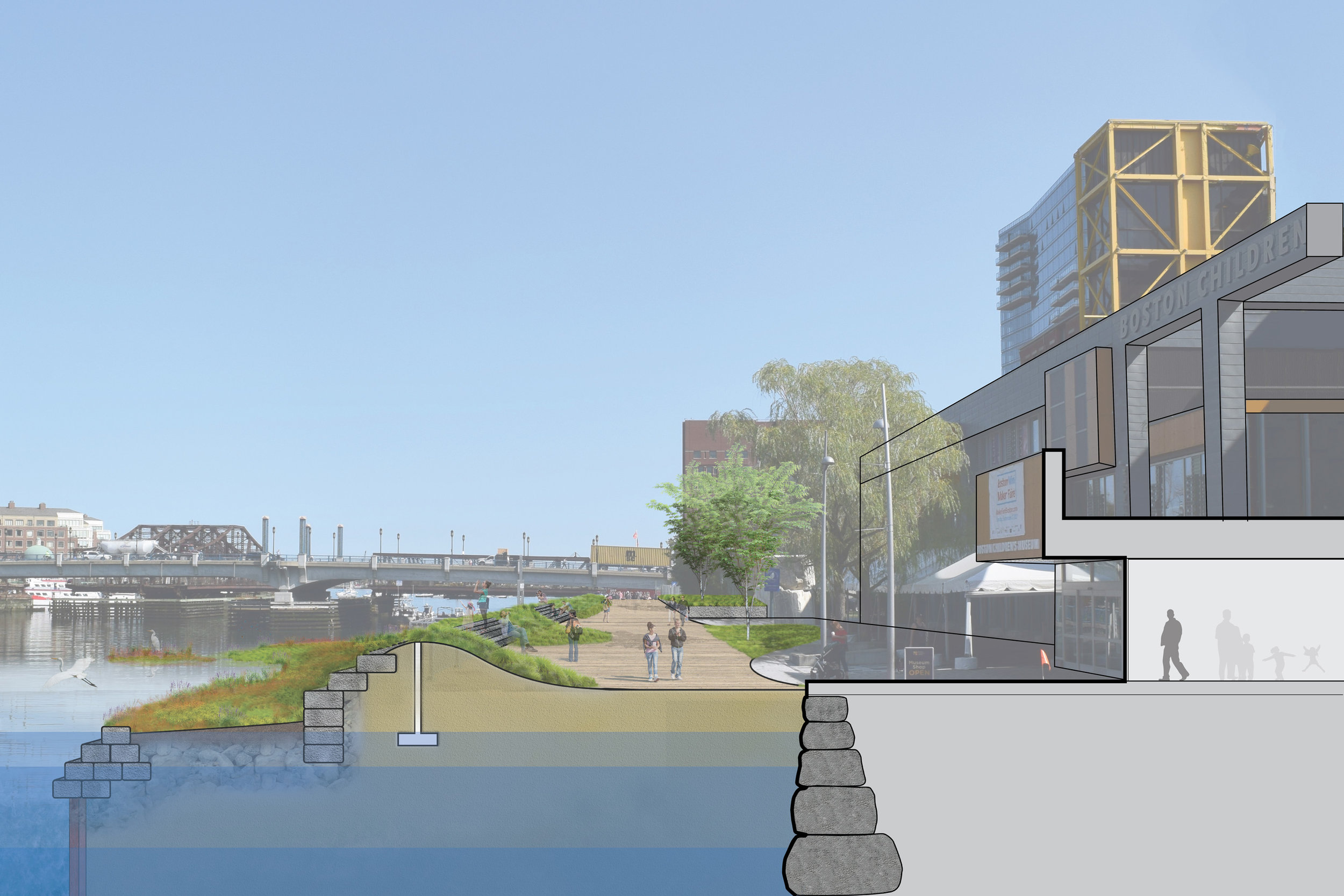 Climate Ready South Boston Fort Point Section View (Halvorson Design)