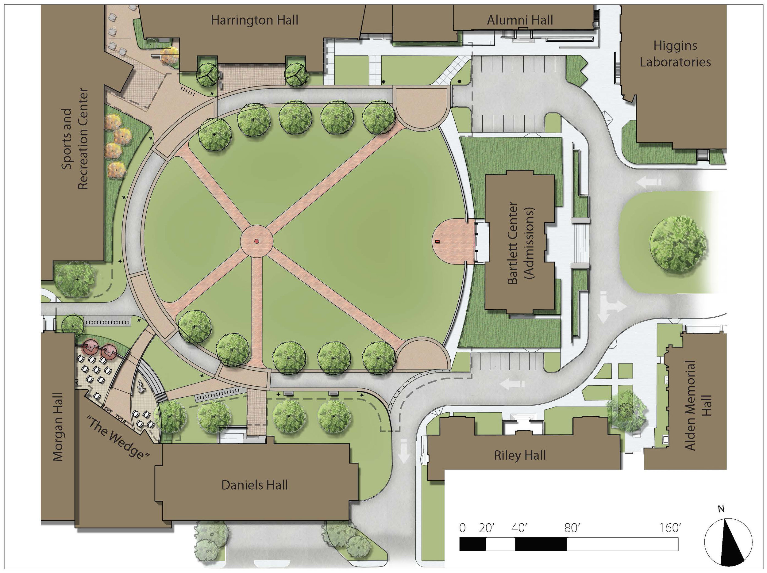 Campus Quad and Dining Wedge Site Plan