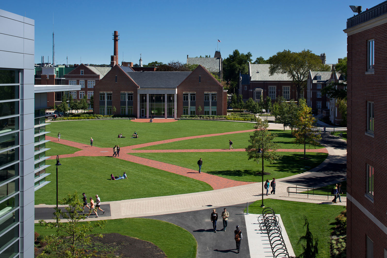 The goal was to re-establish the Quad as a hub for student activity. (Photo by Ed Wonsek)