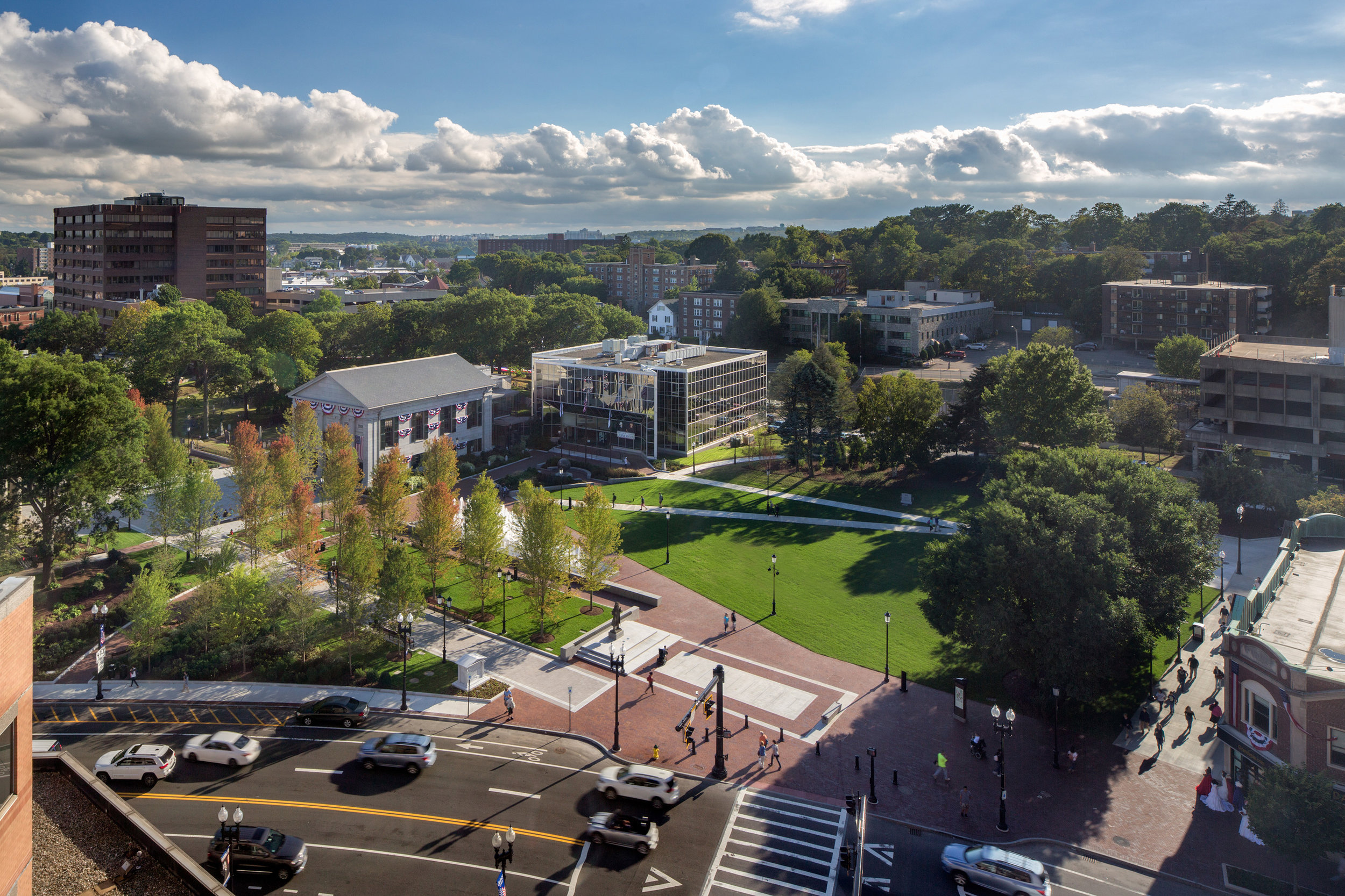 View of Hancock Adams Common from President's Place (photo by Ed Wonsek)