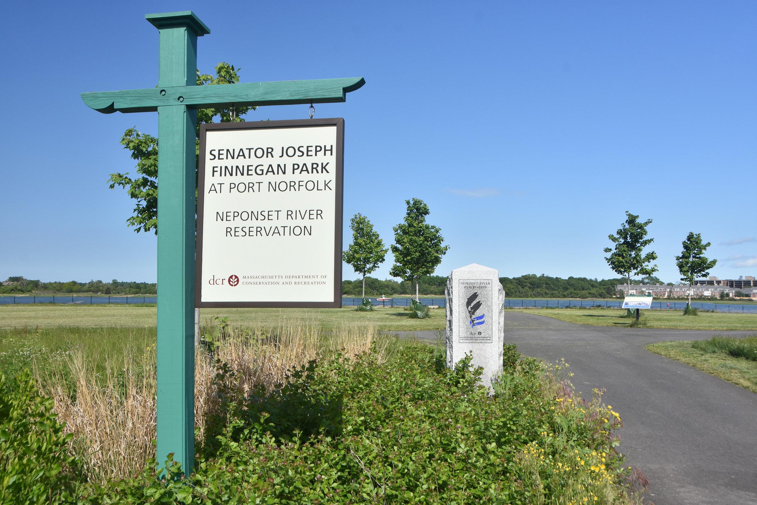 Senator Joseph Finnegan Park at Port Norfolk