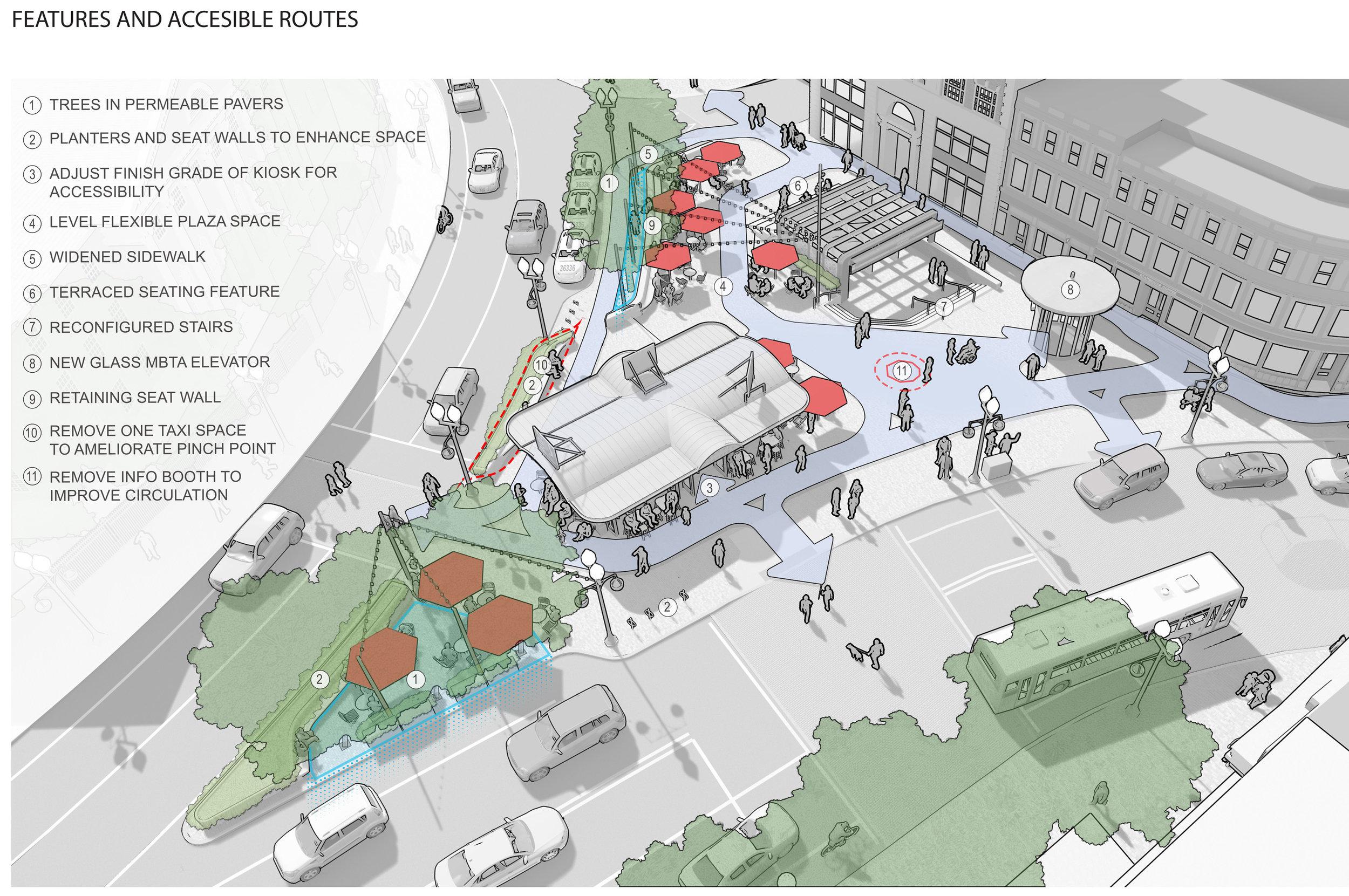 Harvard Square Plaza Axon Diagram (Halvorson Design)