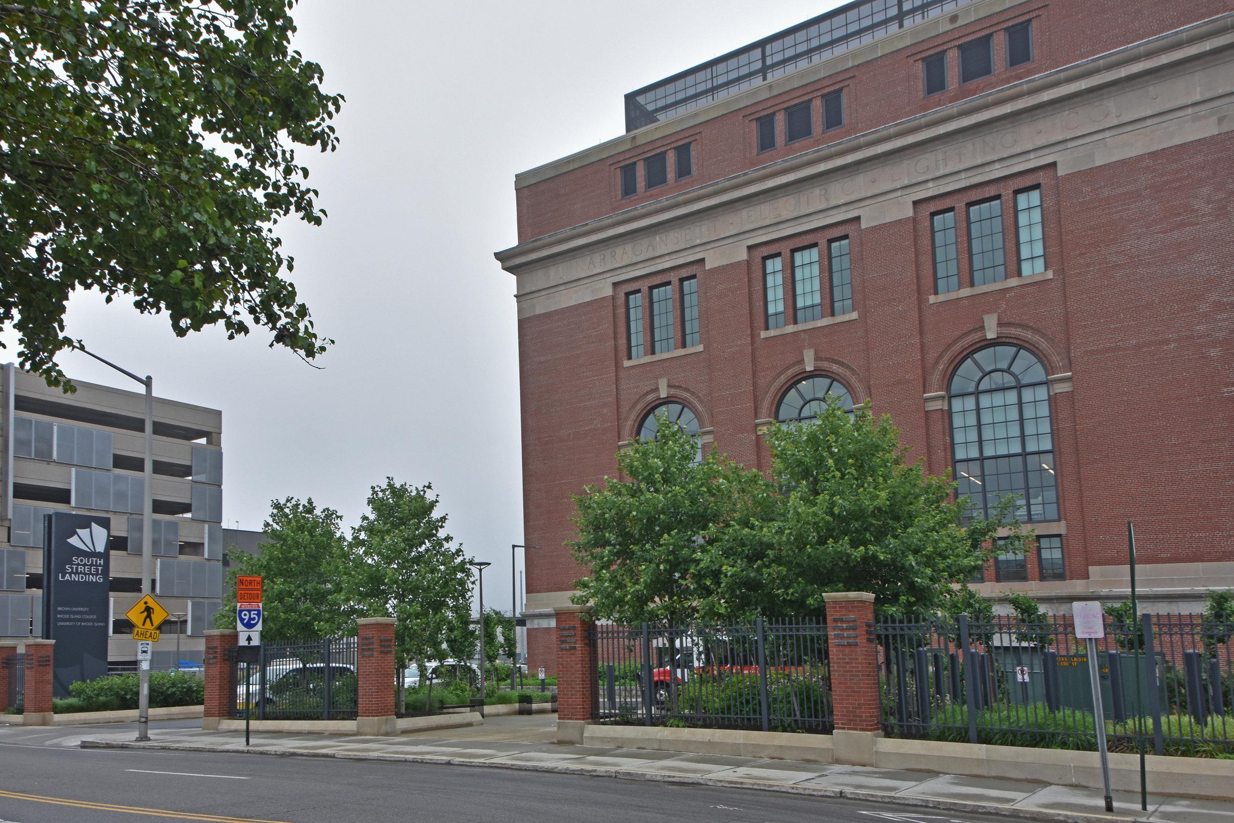 The Rhode Island Nursing Education Center, housed in the former Narragansett Lighting Co. power station