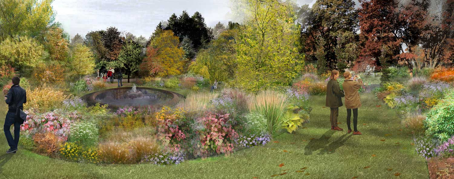 Asa Gray Garden at Mount Auburn Cemetery (Fundraising Rendering by Halvorson Design)