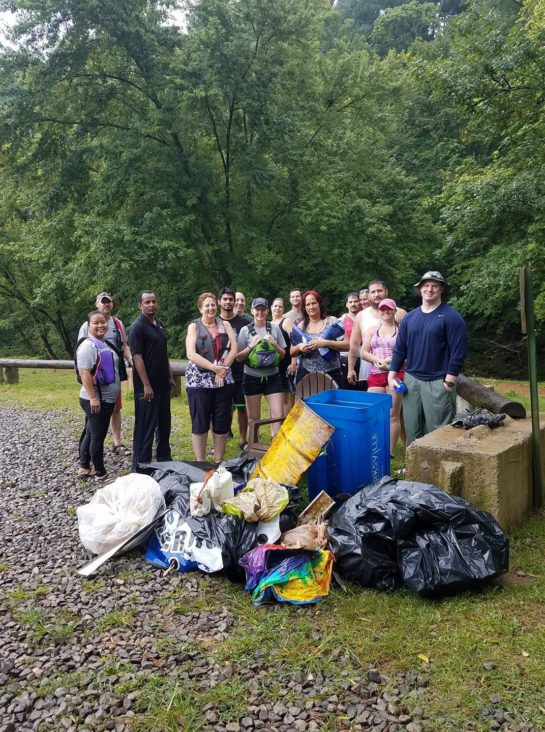 Trane volunteers worked with the City of Clarksville to do a cleanup in July 2017.