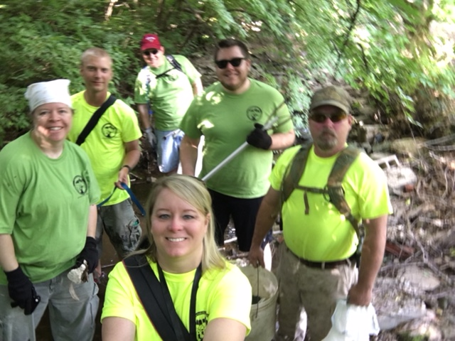 SSOE cleanup of Briarwood Branch in May 2017.