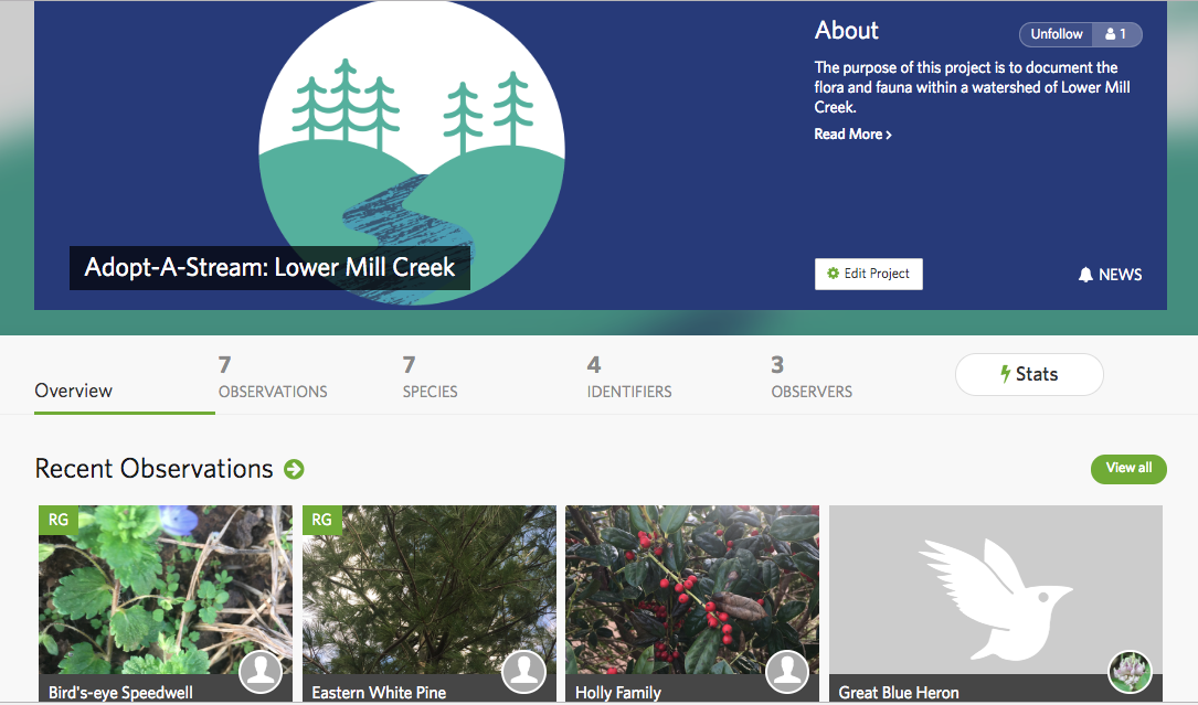 Cumberland River / Mill Creek iNaturalist Page