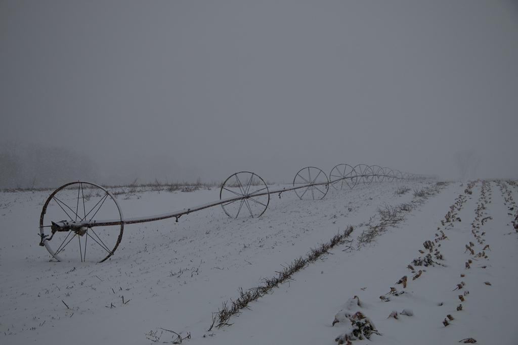 Water Wheels in Snow