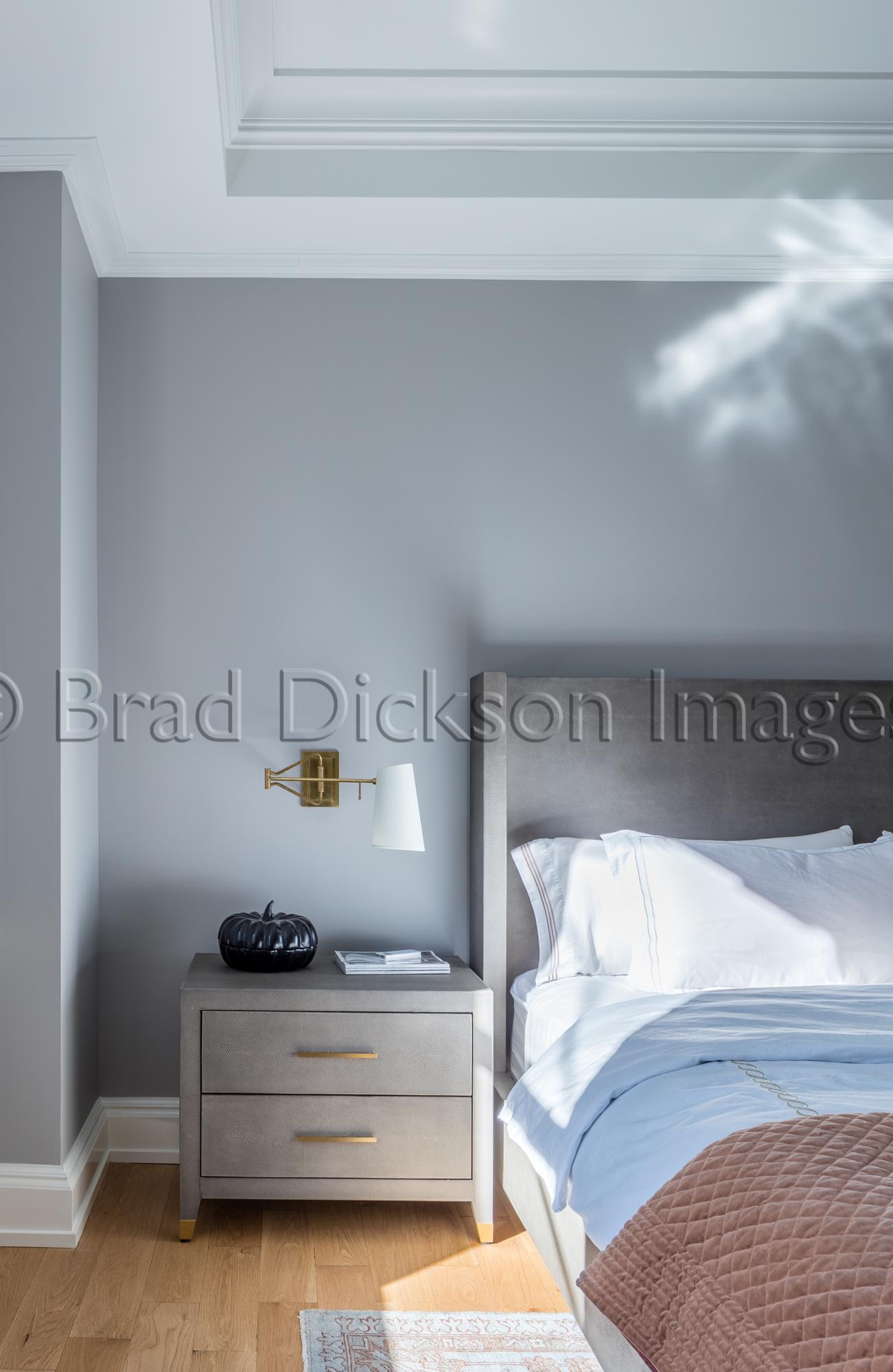 master bed vignette