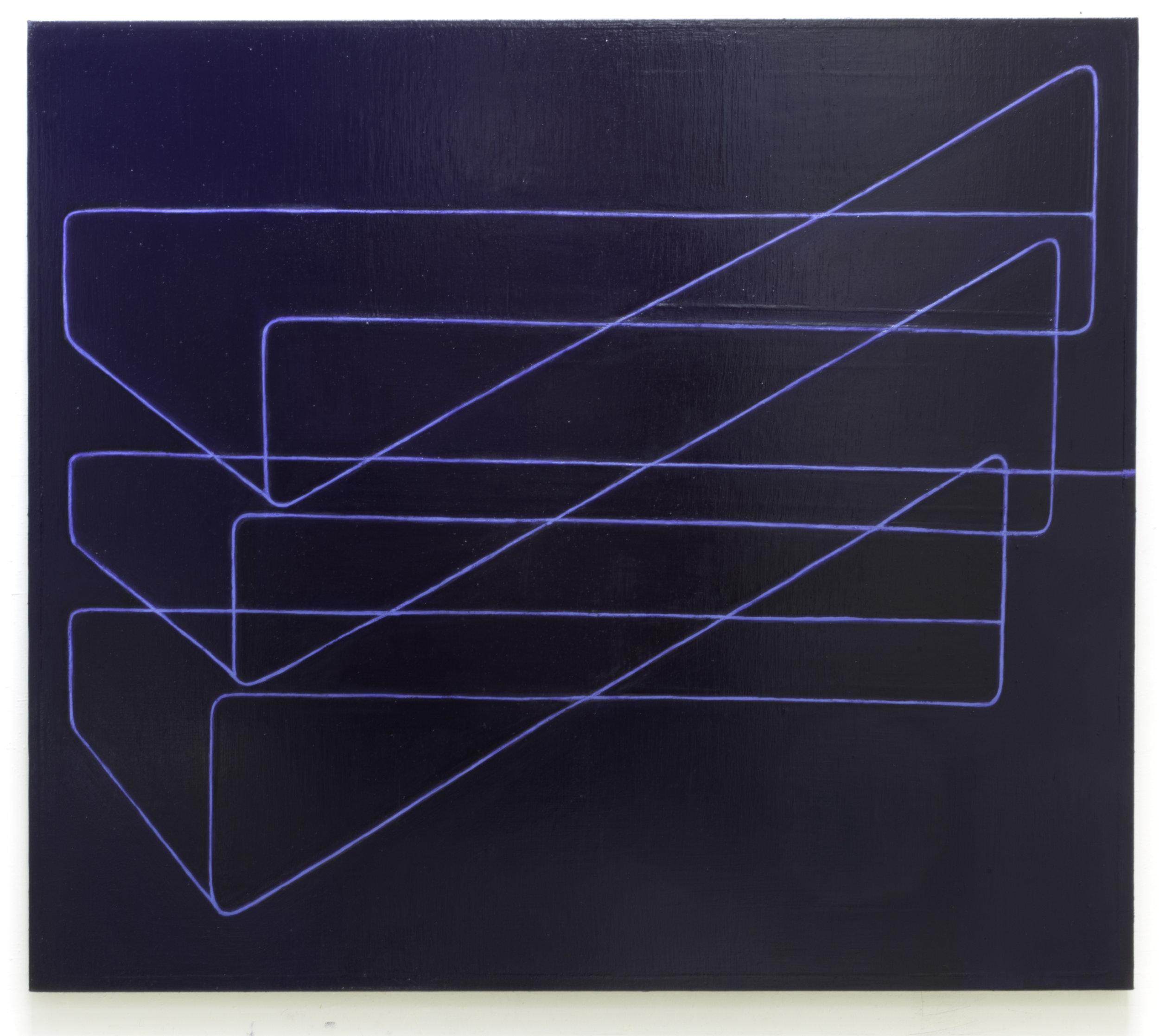 Strait no chaser   ,  2015-17 (Oil on linen, 65 x 74 in / 165 x 188 cm)
