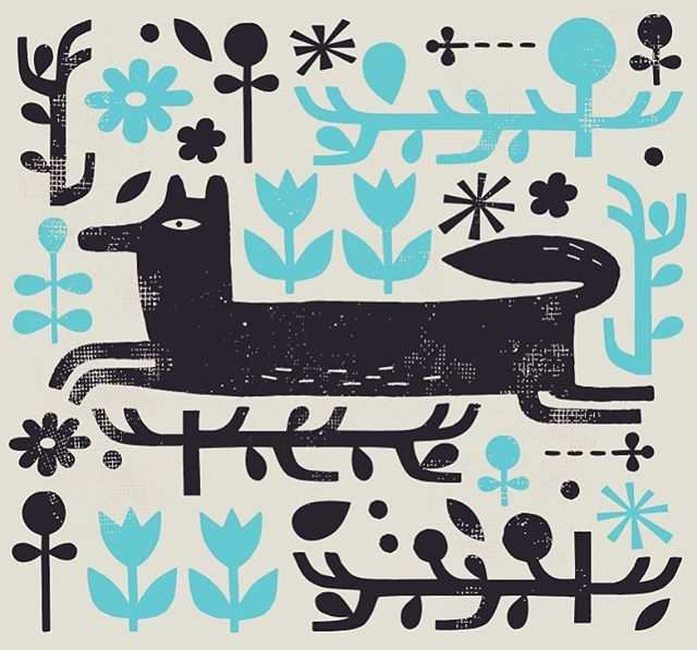 The quick black fox...an update on an old favourite. . . . . . . #illustration #fox #olddognewtricks #illustrationartist #vector #screenprint
