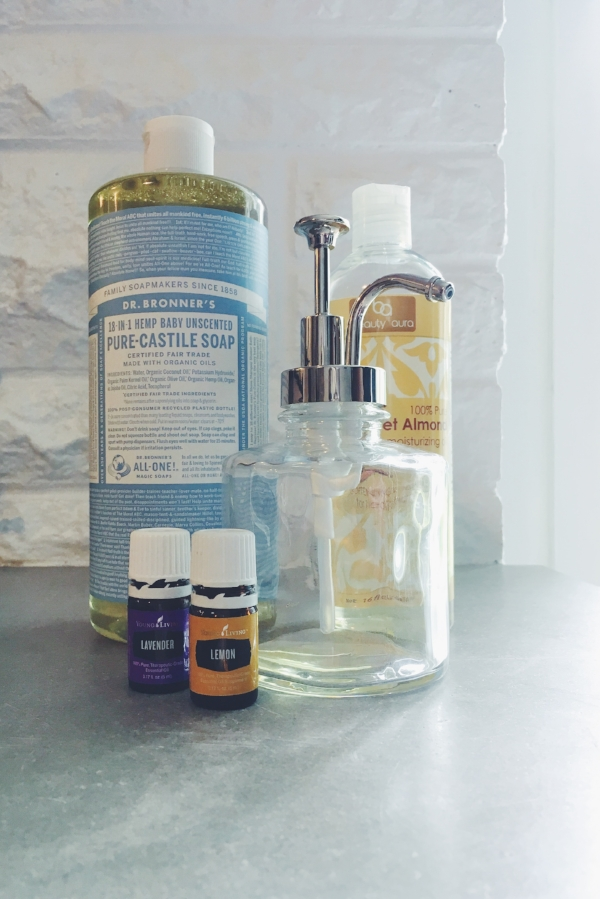 Lemon Face/Hand Soap:       8-oz. Dr. Bronner's Castile Soap   8-oz. Distilled or purified water   1 TBSP almond oil   20 drops Lavender oil   10 drops Lemon oil      Mix it all up in a glass jar with a pump and you're good to go. Gentle on your face and purifying for your hands. Bam! 2 -for-1 deal! Gotta love it! And the best thing, Lavender and Lemon are both found in the Premium Starter Kit, the best way to dive into oils, in my opinion.       All citrus oils can cause photosensitivity which means you could burn more easily. If you will be out in the sun within 24 hours be sure to only use Lemon essential oil where the sun don't shine!       So go try out the powerhouse that is Young Living Lemon oil. You're going to love it!      -Kait (#3775917)