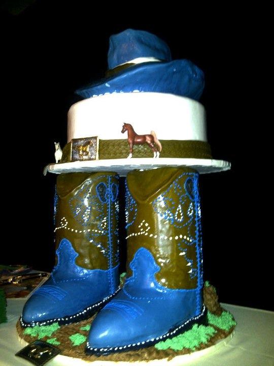 Custom cake for a wedding - Made by Neil Freitas