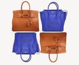 Birkin in Epsom Leather  and   Luggage in Cobalt Blue