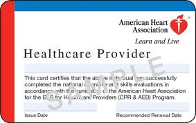 This is an older version of an American Heart Association Healthcare Provider Card
