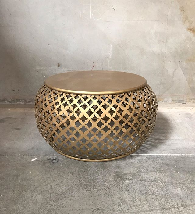 Coffee Table Gold Moroccan Vented Available 1 #coffeetablepandp #loungepandp