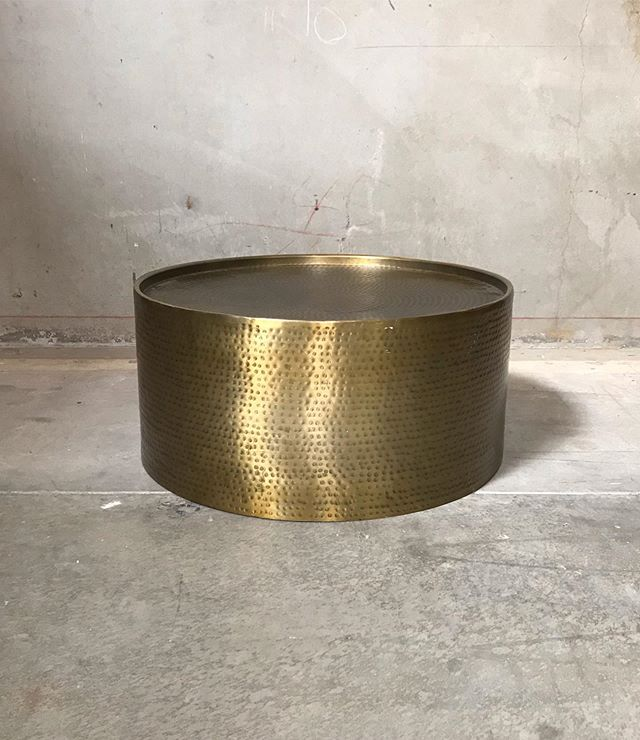 Coffee Table Hammered Brass Available 1 #coffeetablepandp #loungepandp