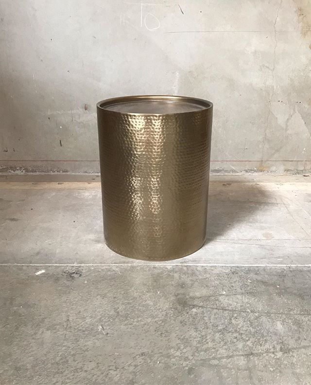 End Table Hammered Brass Available 1 #endtablepandp #loungepandp