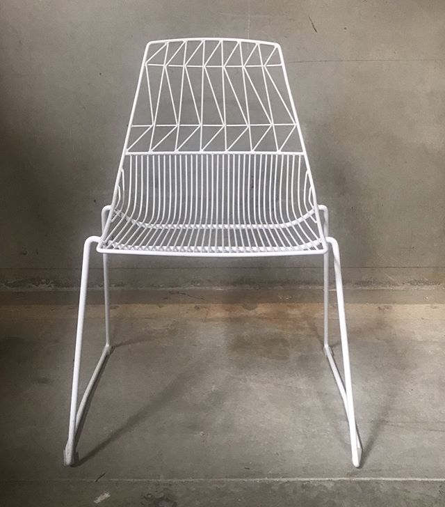 White Wire Chair (Abigail)  Coming Fall 2019 Available 150 #chairspandp #diningchairspandp