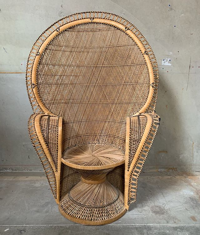 Vintage Peacock Chair (Lauren) Available 1 #chairspandp #loungepandp