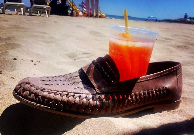 A sure guarantee for no spillage! #aperolspritz #sun #sea #sand #Spain quiet #beach s #holiday #drinks #loveyourlife #workhard #playhard