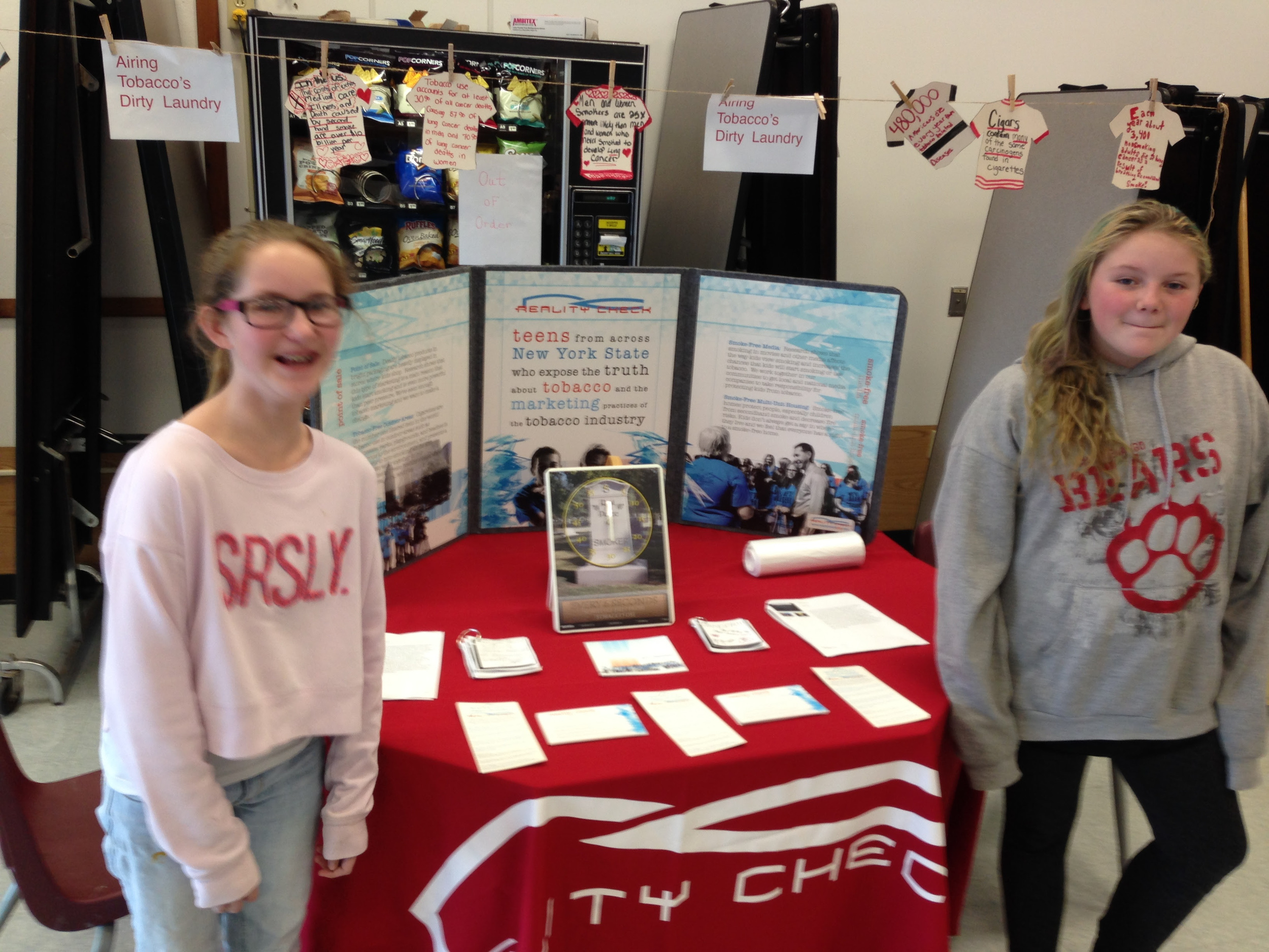 Chittenango Middle School Students on Great American Smokeout