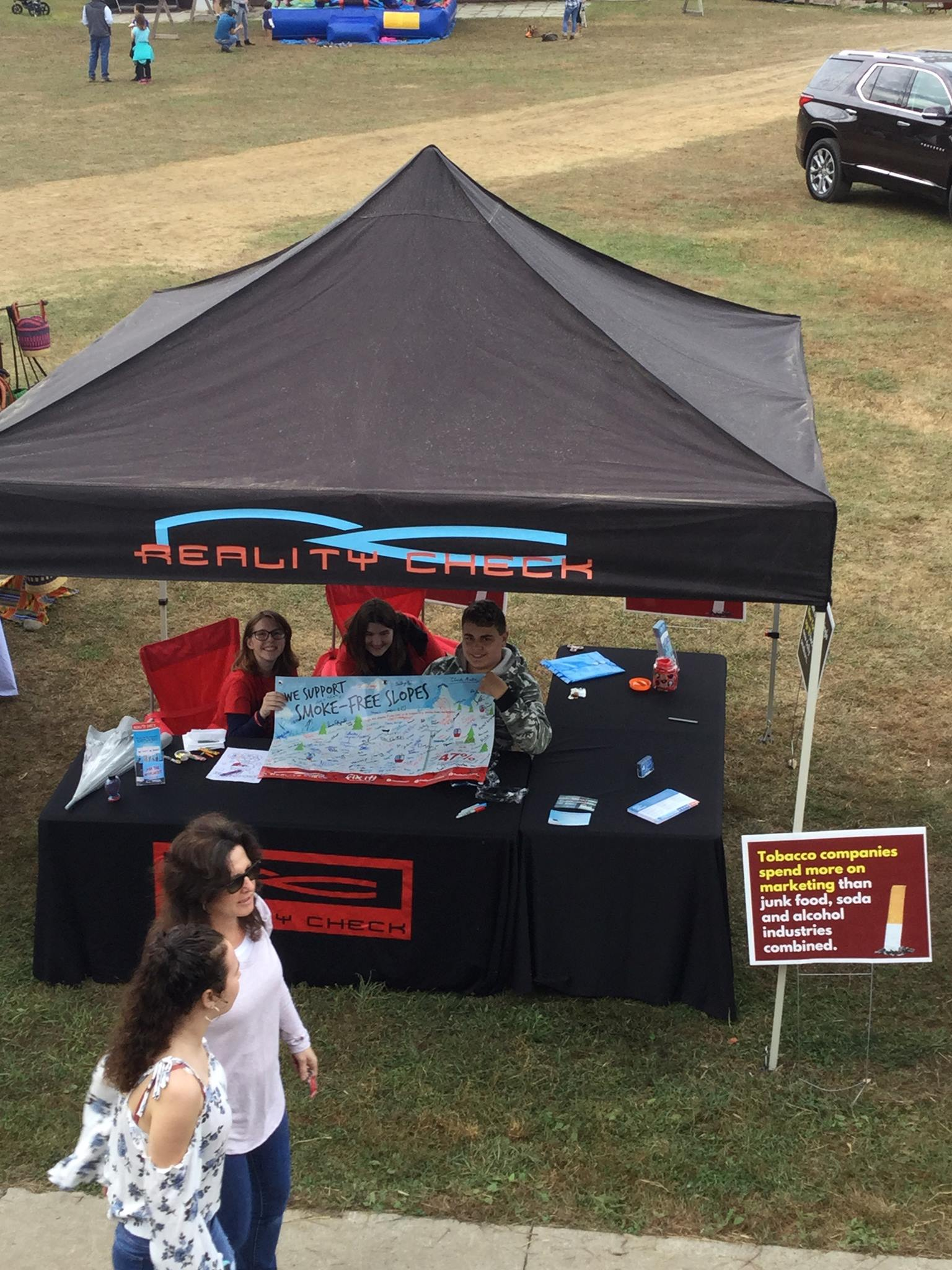 Saratoga, Washington, and Warren RC Youth - Reality Check youth from Saratoga, Warren and Washington counties educated community members about our program at the West Mountain Fall Festival. Students collected signatures of support for the mountain to adopt a tobacco-free outdoor policy so everyone can breathe clean air.