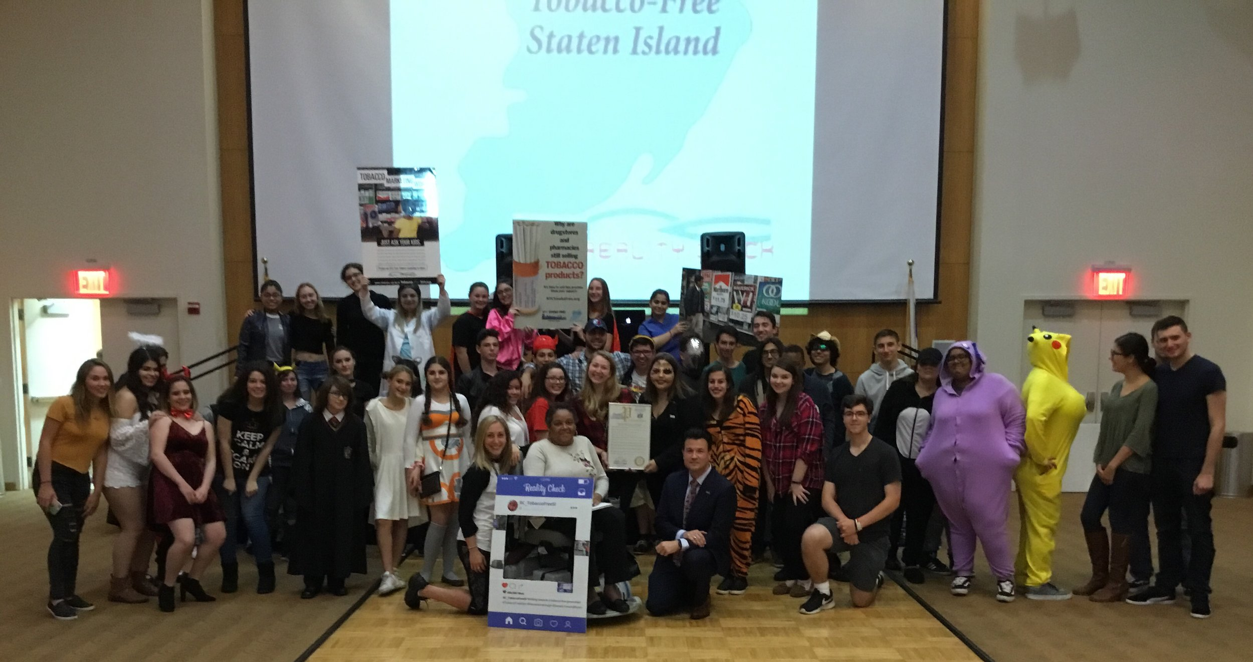 RC of Staten Island  - Reality Check of Tobacco-Free Staten Island hosted an educational event with speaker Marie Wilkins from the CDC commercial, tips from Former Smokers commercial.  We were presented with a proclamation from Senator Lanza's office deeming Friday 13th as Seen Enough Tobacco Day.  Youth and community members had a fun-filled evening learning about recent legislation passed by city council and unmet needs and active role individuals can play in tackling the impact of tobacco.