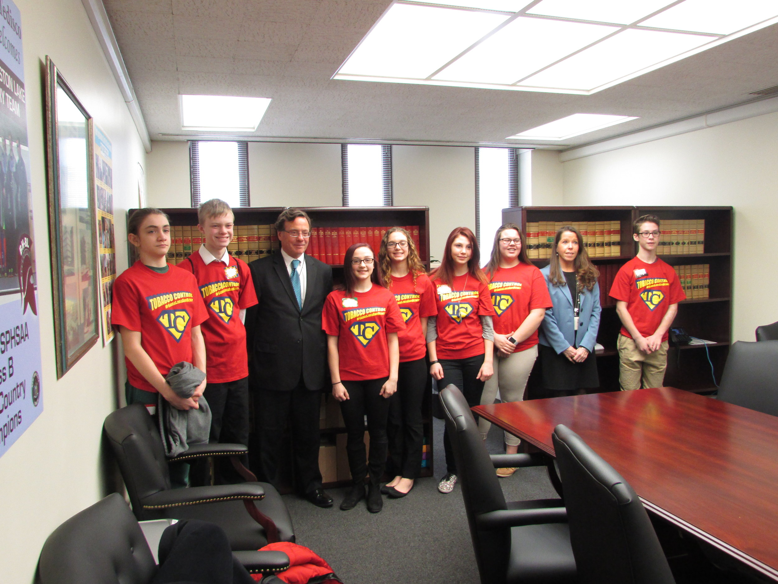 Herkimer and Fulton RC Youth - Herkimer and Fulton RC Youth bringing their message to Senator Tediscos' office.