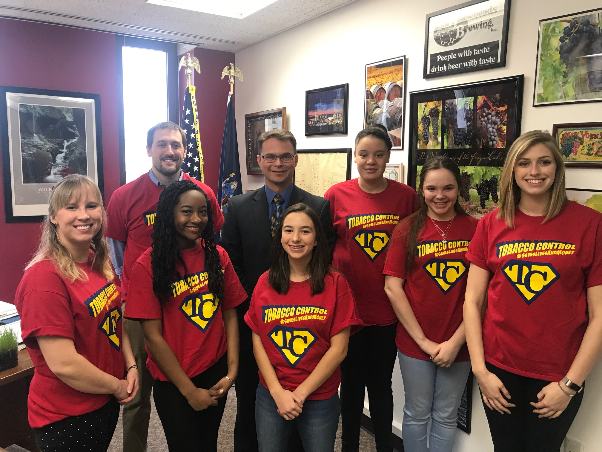 Chemung RC - Assemblyman Chris Friend took a moment form his busy schedule to meet with RC youth from Chemung County