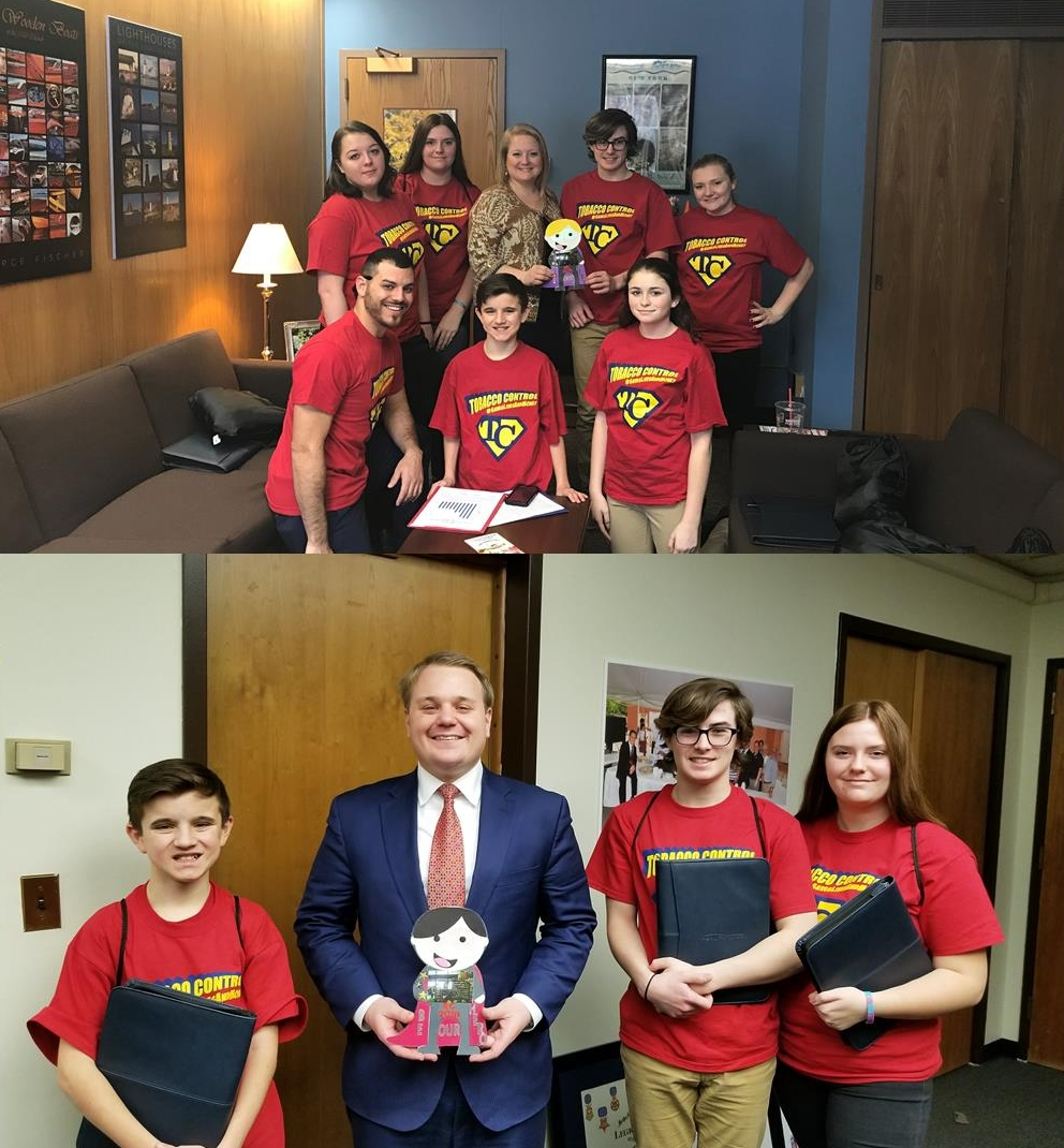 RC of St. Lawrence County - Reality Check youth from St. Lawrence County check in with Assemblywoman Addie Jenne at her office at the state capitol.Senator Griffo's staff member took the time to meet up with of few RC youth.