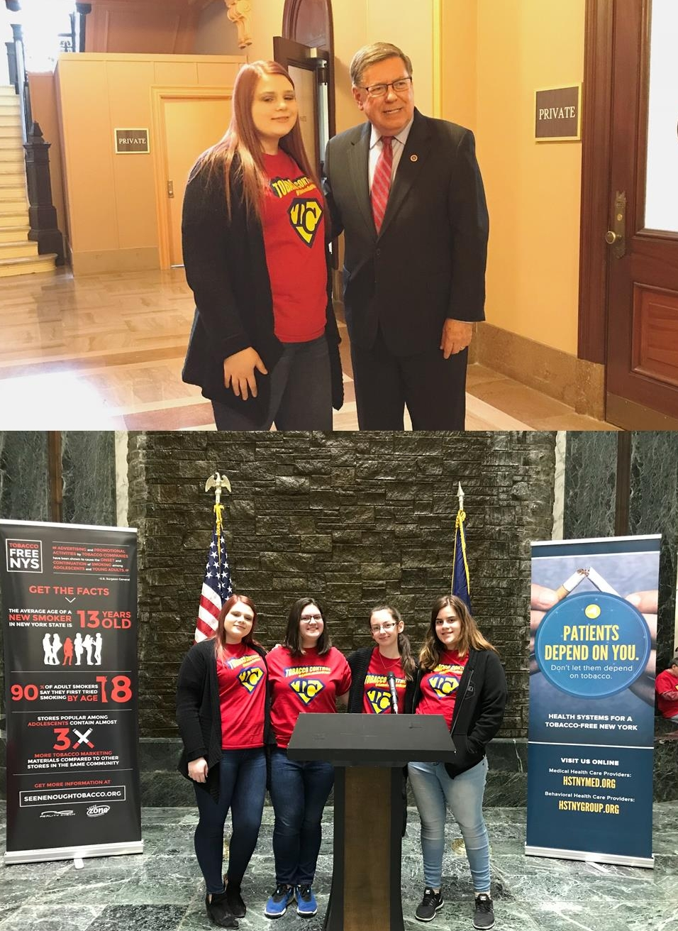 Cortland and Tompkins RC - Youth from Cortland and Tompkins Counties took their messages to Albany on Legislative Day. It appears they had listening ears.