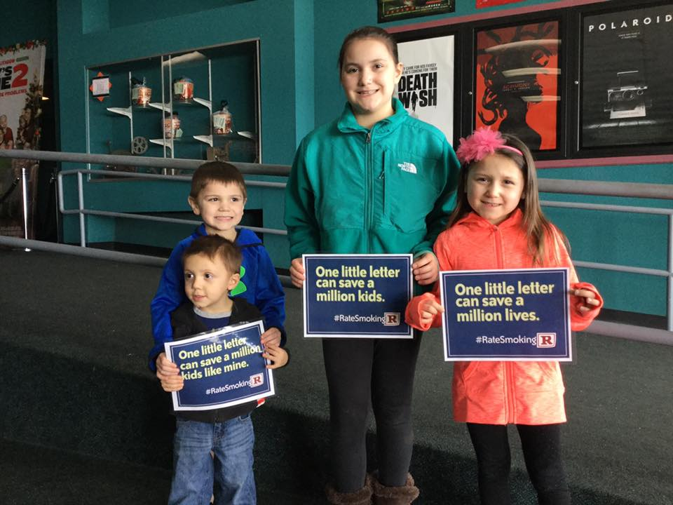 """Reality Check of Hamilton, Fulton and Montgomery Counties celebrated International Week of Action by putting on a local movie for their community. Their message, """"to highlight the need to reduce smoking in youth-rated movies because it is proven that seeing smoking in movies is a cause of youth initiation""""."""